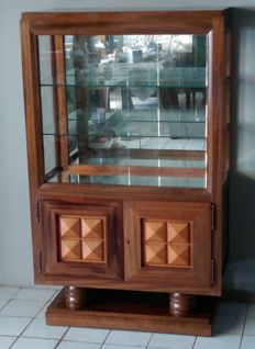 Gaston Poisson - Silverware display cabinet in mahogany