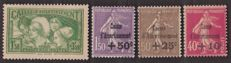 France 1930/1931 - 'Caisse d'Amortissement' - Yvert no. 253/255, 266/268 and 269