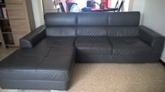 Sofa 3\4 place cowhide leather