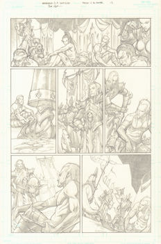 Original Comic Art By Chad Hardin - Games Workshop And Electronic Arts - Warhammer: Age of Reckoning - Page 12 - (2008)