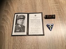 Lot of decorations, and death announcement 3rd Reich