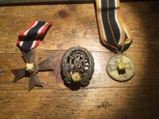 lot of 3 German medals all original.