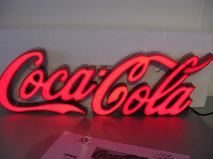 Illuminated advertising Coca-Cola with dimmer and led lamps