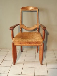 Leon and Maurice Jallot - Art Deco oak chair