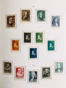 The Netherlands, 1852-1990 - collection in album and supply in stockbook