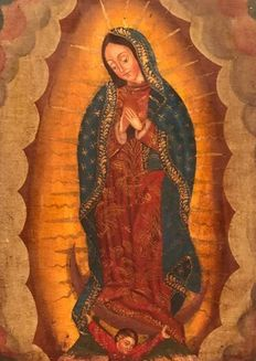Cuzco colonial school (XIX) - Virgin of Guadalupe, Mexico