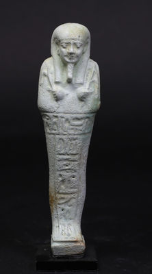 Egyptian faience Ushabti for the priest of Smentet Padiusir - 129 mm