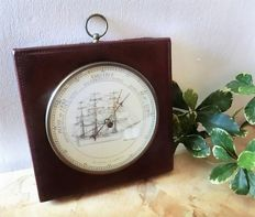 In leather bound weather station  with English ship three master Savannah