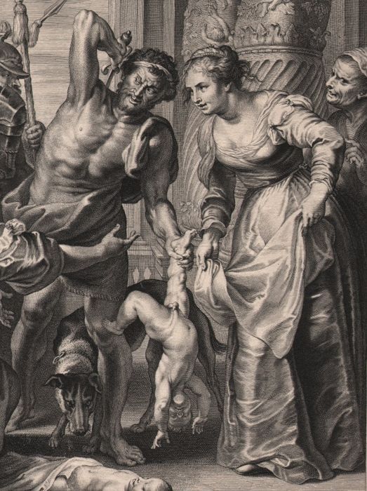 b329f335905d Peter Paul Rubens (1577 - 1640) - The Judgement of Solomon - Early  impression engraved in his studio by his pupil Schelte Adamsz.