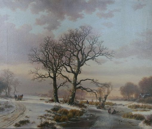 Wouter Jansen (1946 - ) - Winter landschap