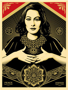 Shepard Fairey (OBEY) - Peace and Justice Woman