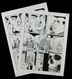 Brindisi, Bruno - original plate Dylan Dog no. 338 + final print-ready (2014)