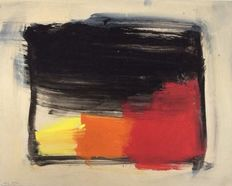 Eugene Brands - Red, Orange and Yellow against moving black