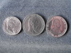 German Empire - 3 coins, varying