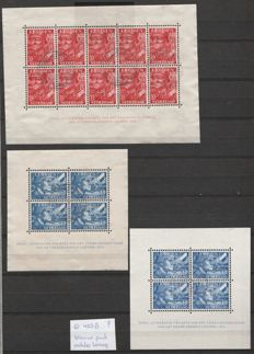 The Netherlands 1941 - Legion blocks, including blocks with plate error - NVPH 402B/403B and 403B P