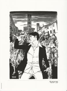 "Brindisi and Civitelli - Dylan Dog Exhibit Catalogue (2014) + 2x Lithographs ""Dylan Dog Alba"""