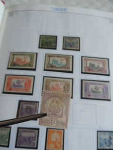 Tunisia 1888/1983 - Collection in a binder
