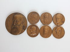 Russia – Medals of Russian poets, made between 1960-1970