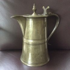 18th century pewter supper jug Scotland