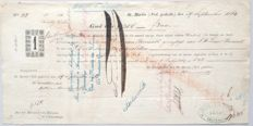 Former colonies; Promissory note for freeing slaves Sint Maarten - 1864