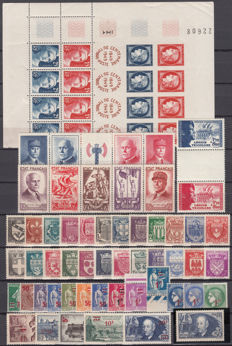France 1938/1949 - Lot of stamps