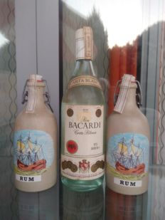 3 bottles rum - Bacardi 'Carta Blanca', bottled 1970s & 2 bottle Mampe, bottled 1980s
