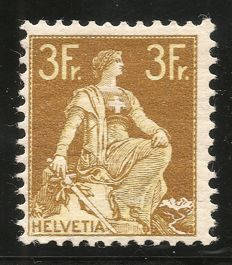 Switzerland 1908-1925 - Helvetia with sword MH - SNK no. 116I