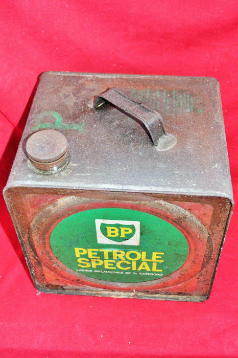 Rare old oil can, 5 litres, BP Gas special