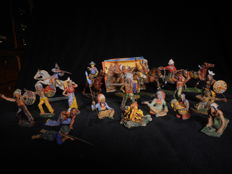 Elastolin - Masse figuren - en andere merken, Cowboys and Indianen