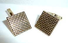 Vintage cufflinks 8kt / 333 gold with maker's mark approx. 1960-70
