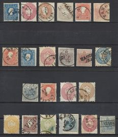 Italy Austria Lombardy & Venetia 1850 – lot of stamps