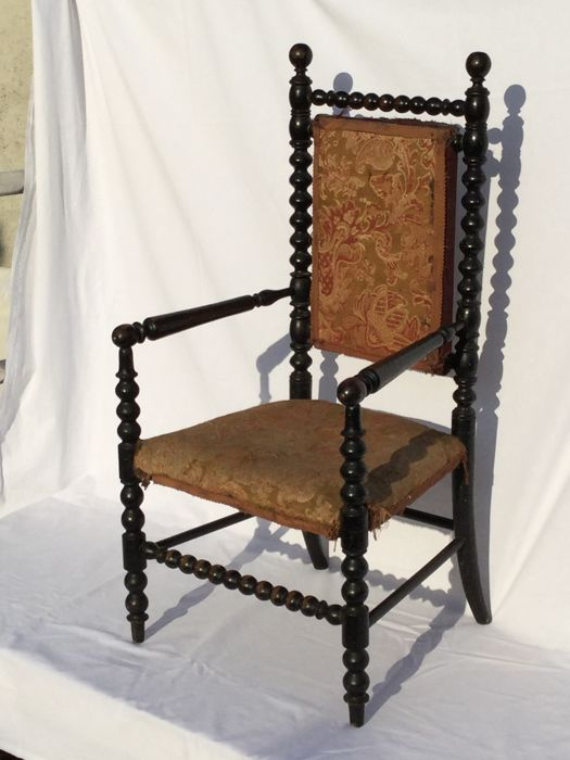 Beautiful rare high chair - Napoleon lll - France-ca. 1880