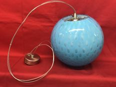 Vistosi Glassmakers of Murano - Pendant light in sky blue glass