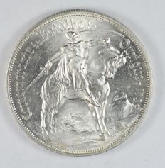 Portugal Republic - 10 Escudos 1928 Battle of Ourique - Silver