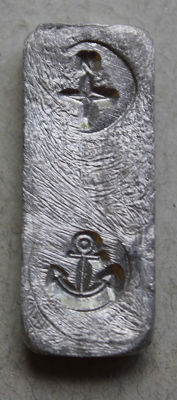 10 GRAMS OF INDIUM - INDIUM BAR - ANCHOR / WIND ROSE