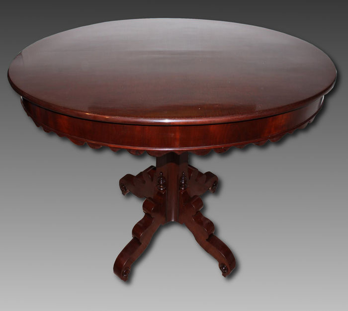 Louis Philippe Neapolitan mahogany coffee table - second half of the 19th century