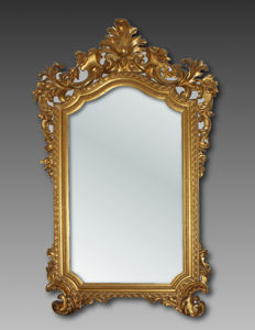 Wall mirror in hand carved gilt wood Louis Philippe Tuscany - Italy - second half of the 19th century
