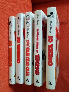 "Walt Disney - 5x hardcover volumes, giant sized, series ""Io Topolino"" etc."
