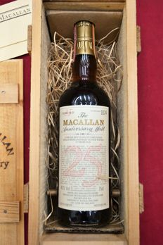 The Macallan Anniversary Malt 25 Year Old 1984 (Distilled 1958) Single Malt Scotch Whisky