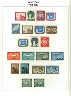 United Nations 1951/2003 - Collection of 904 stamps and 15 minisheets