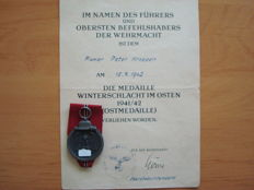 East Medal with Certificate