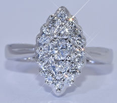 Diamond, marquise ring NO reserve price!