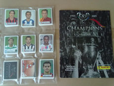 Panini - champions of Europe 1955-2005 - complete sticker set along with empty album.