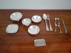 Set of miniatures in silver 800 - Italy, 1990