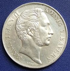 Old Germany, Bavaria - double gulden 1855 Marian column  - silver