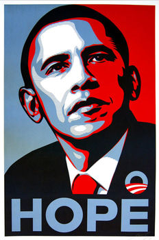 Shepard Fairey (Obey) - Obama Hope Campaign Poster - 2008