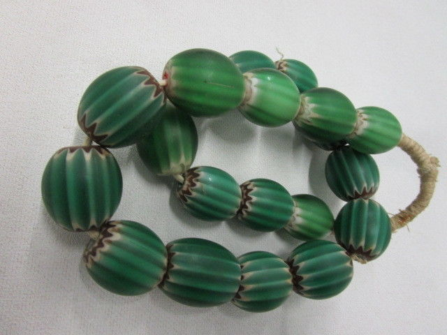 Venetian chevron bead necklace - different periods