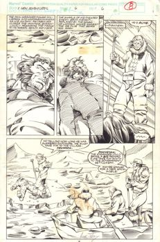 Original Comic Art By Andrew Pepoy & Robert Campanella - Marvel Comics (1993) - X-Men Adventures #6 - Page 6 - Signed