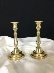 Pair of candlesticks in bronze, Louis Philippe style, second half of the 19th century, France
