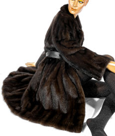German furrier - coat, fur coat, mink coat, dark brown, elegant